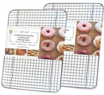 Ultra Cuisine 8.5x12in (2 Pack) Baking and Cooling Rack (Quarter Pan Size - 2 pack)