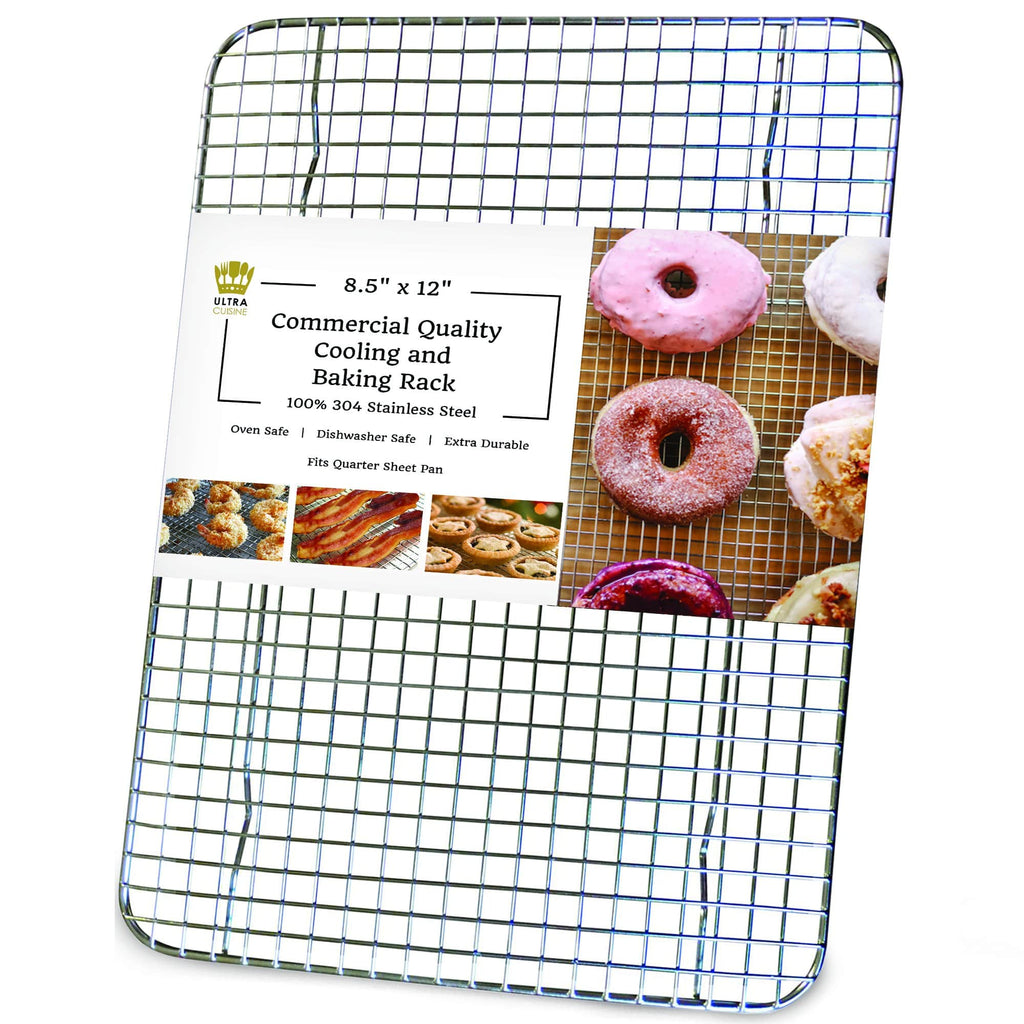 Ultra Cuisine 8.5x12in Baking and Cooling Racks (Quarter Pan Size)