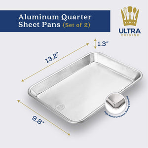 Ultra Cuisine Aluminum Quarter Sheet Baking Pans (set of 2)