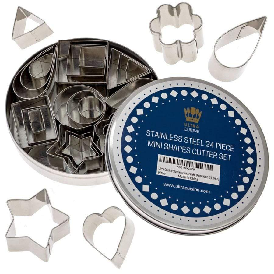 Ultra Cuisine Mini Shapes Cutter Set