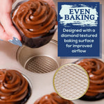 Ultra Cuisine Muffin Pan for Baking Nonstick - 12 cup