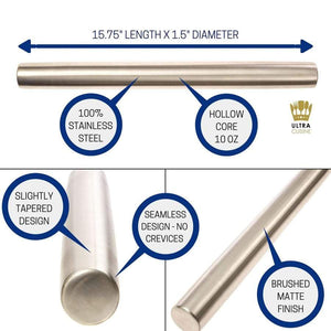 Ultra Cuisine Professional Stainless Steel Rolling Pin (Classic)