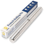 Ultra Cuisine Professional Stainless Steel Rolling Pin (Measurements)