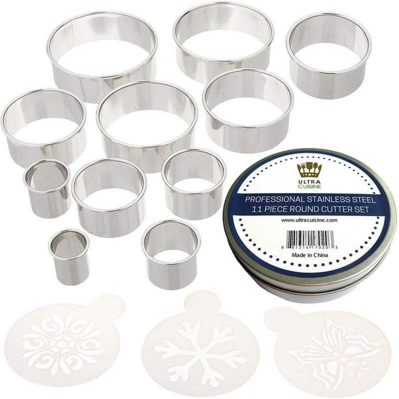 Ultra Cuisine Round Cookie & Biscuit Cutter Set