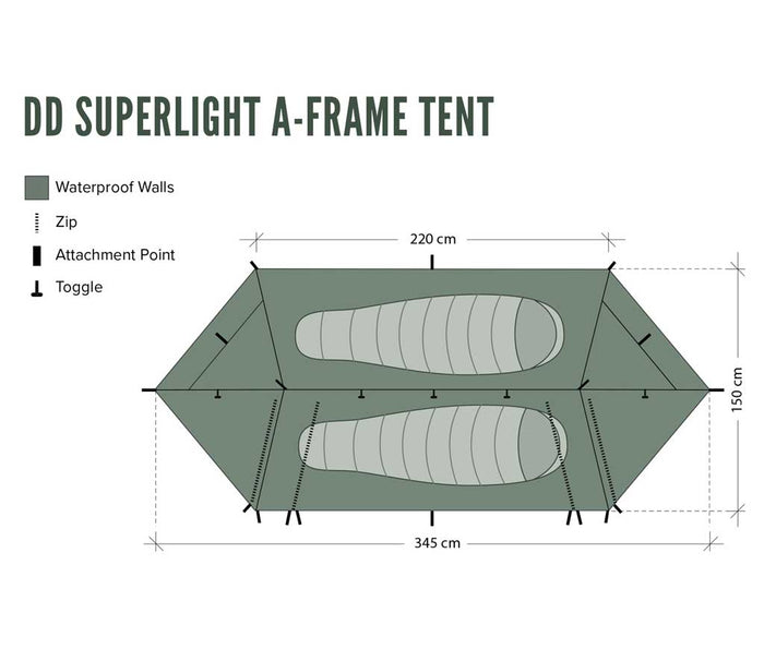 DD Superlight A-Frame Tent - 2. pers. telt
