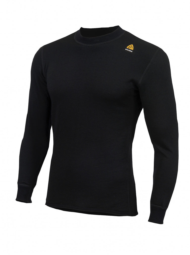 Aclima HotWool Crew Neck UniSex i farven JetBlack