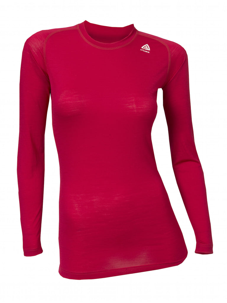 Aclima LightWool Women's Crew Neck Shirt - PersianRed