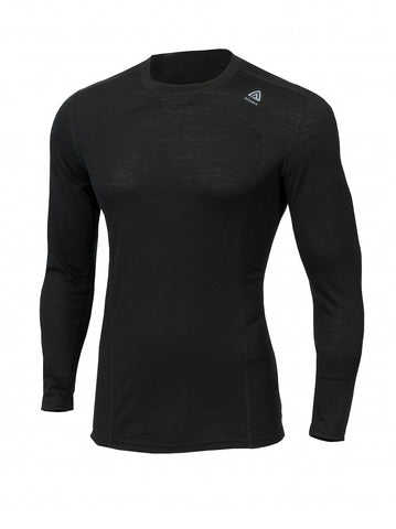 ACLIMA LightWool Men's Crew Neck Shirt - JetBlack