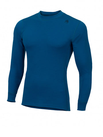 ACLIMA WarmWool Men's Crew Neck Shirt - BlueSapphire