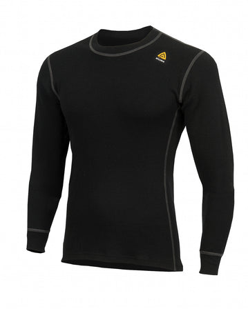 ACLIMA WarmWool Men's Crew Neck Shirt - JetBlack