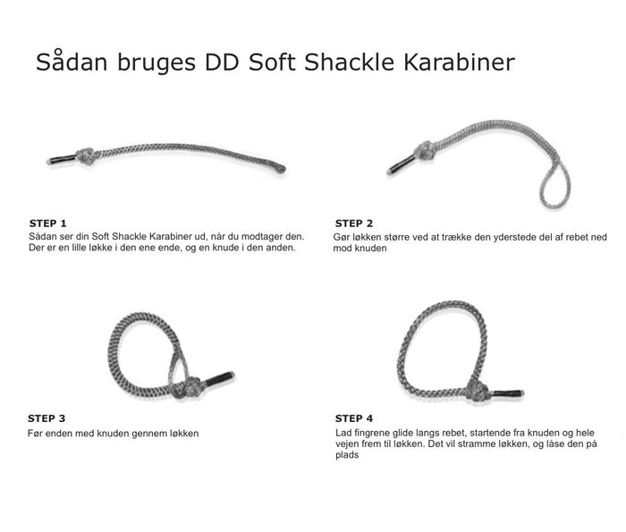 guide til DD Soft Shackle Karabiner