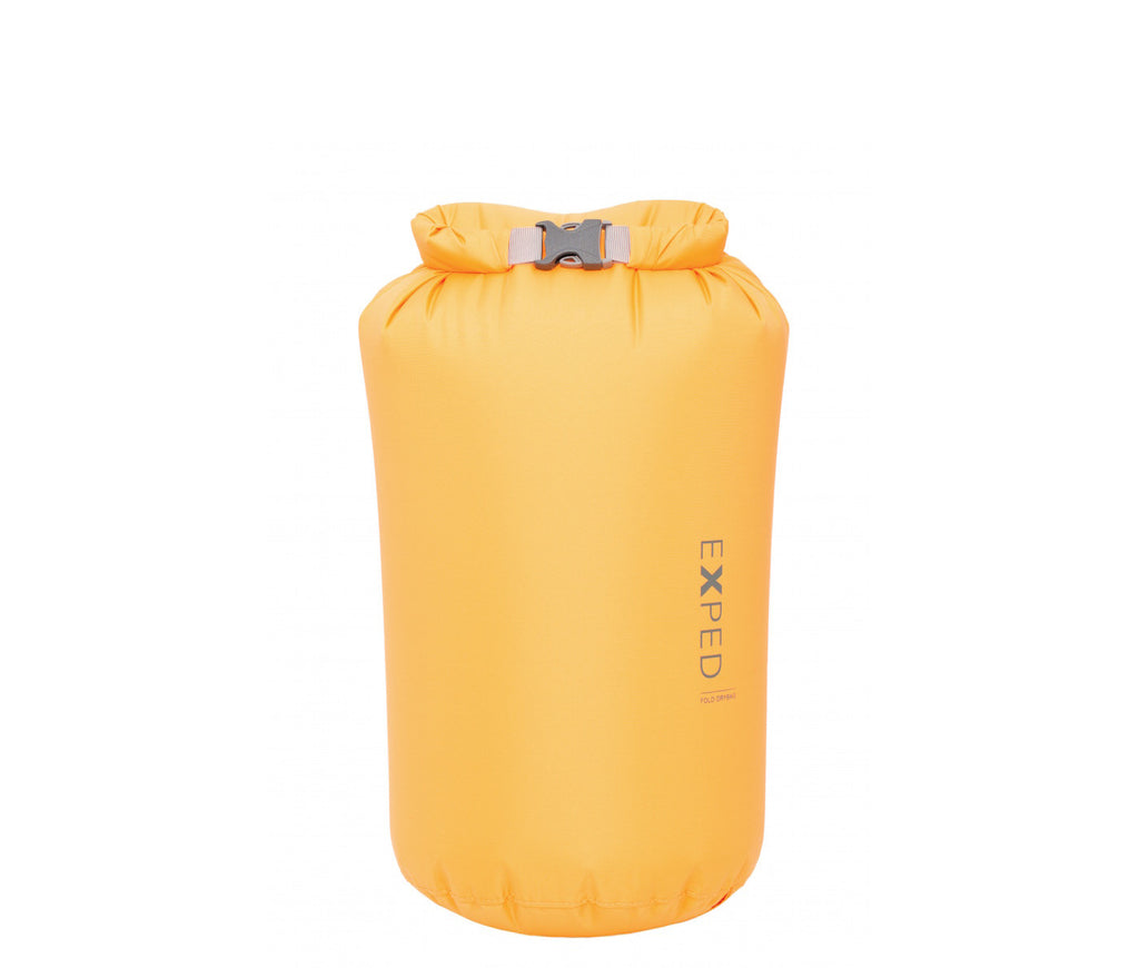 Exped Fold-Drybag S pakkepose på 5 liter i Corn Yellow