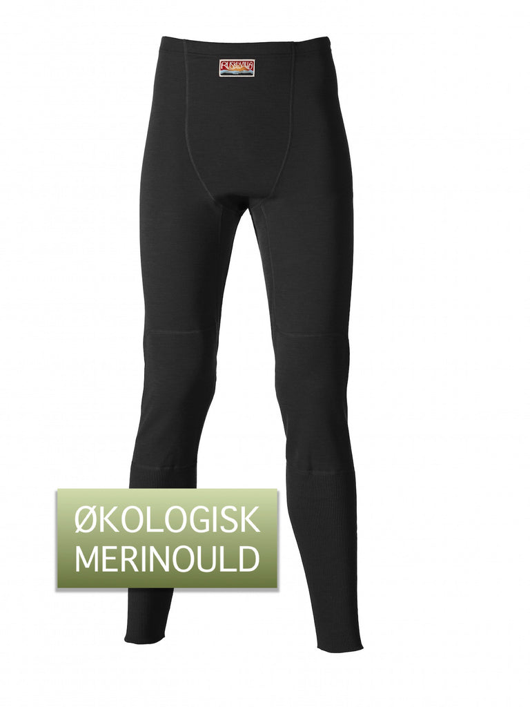 Ruskovilla Outdoor Pants, sort - Økologisk Merinould