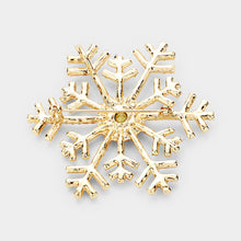 Load image into Gallery viewer, P&G Snowflake Brooch