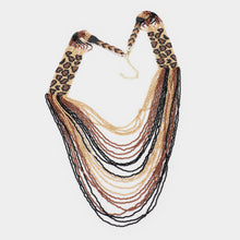 Load image into Gallery viewer, Cha Cha Cheetah Print Necklace