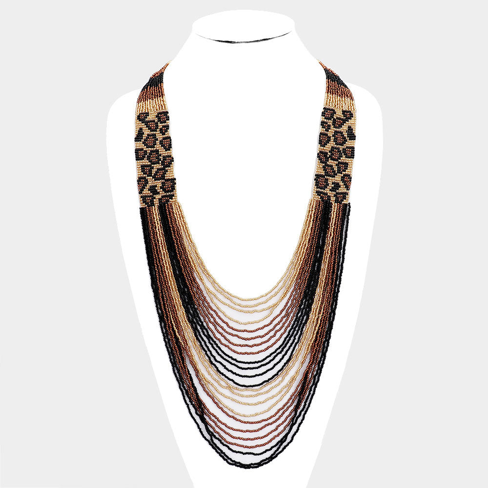 Cha Cha Cheetah Print Necklace