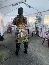 "Load image into Gallery viewer, Camo ""There is nothing like a sistah"" jacket"