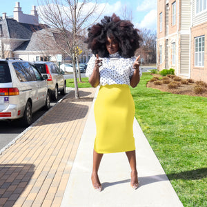 Halo Yellow H-Line Skirt