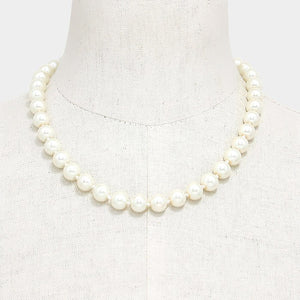 Kamela 9mm One Strand Pearl