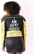 Load image into Gallery viewer, Boss Lady Biker Jacket