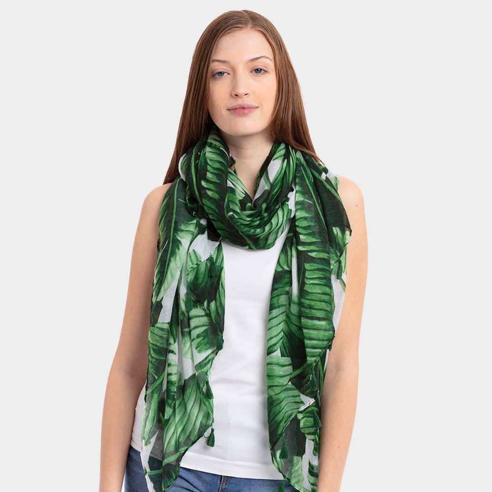 Safari Green Scarf