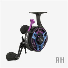 Load image into Gallery viewer, 13 Fishing® Black Betty FreeFall TRICKSHOP EDITION Miami Night Inline Ice-Fishing Reel -- FREE SHIPPING! -- 10% off 'till 12/06/20.  Use Discount code 13FISHING at checkout screen to get discount