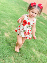 Load image into Gallery viewer, Red Floral Peplum Set
