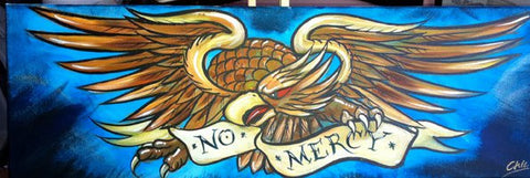 """No Mercy"" Acrylic on Canvas, by Chic *Call Shop*"