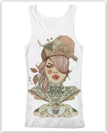 """Kitty"" Sacred Stitches Vest - Seven Sins Tattoo"