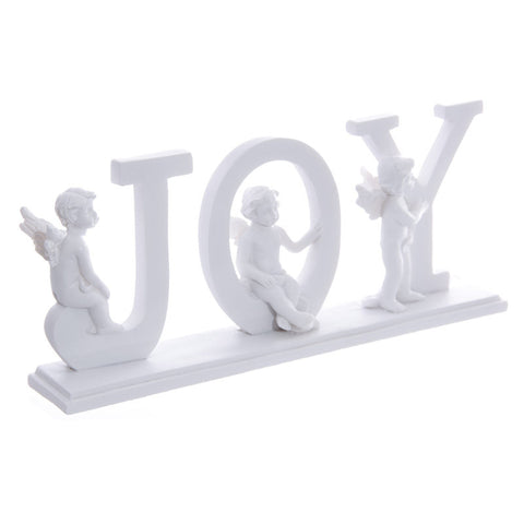 JOY Cherub Letters on Plinth