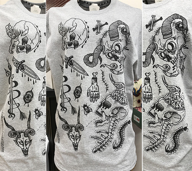 Limited Edition Punk Skulls t-shirt by Chris Mortimer