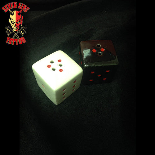 Dice Salt and Pepper Shaker - Seven Sins Tattoo