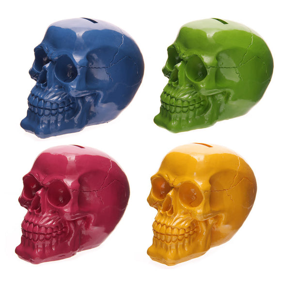 Pop Art Glossy Skull Money Box - Seven Sins Tattoo - 1