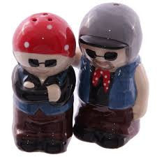 Old Fogey Biker Couple Salt & Pepper set