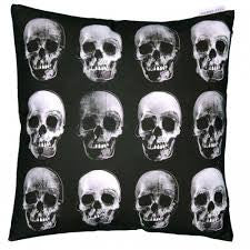 Black and White skull cushion