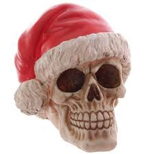 Santa Claus Skull Decoration