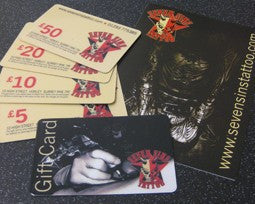 £50 Seven Sins Tattoo Gift Voucher - Seven Sins Tattoo