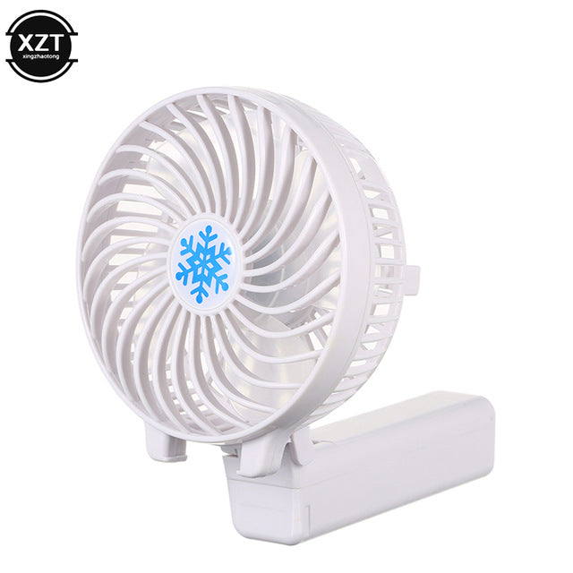 NEW Portable Mini USB Fan Hand Held Desk Air Cooler Silent Travel Humidification Cooler Cooling Chargeable Fan Use 18650 Battery Fan