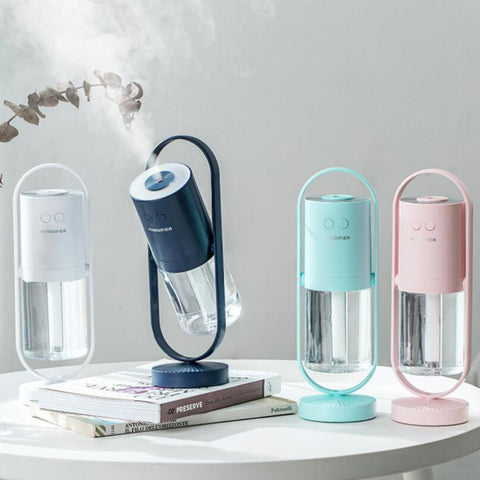 200ml Magic Shadow USB Air Humidifier with LED Lights Ultrasonic Aroma Diffuser Mist Maker Mini Office Air Purifier