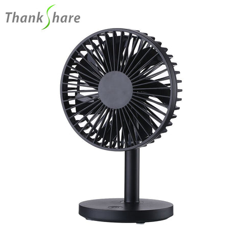 THANKSHARE USB Fan Mini Portable Dual Blade Desk Super Mute Laptop Cooler Small Fan Office Desktop Fan 3 Speed Cooling Gadgets