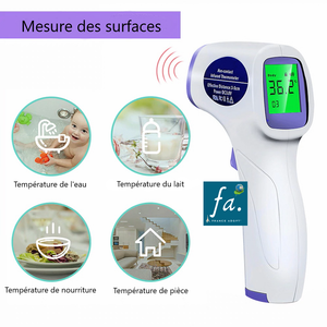 Thermomètre infrarouge sans contact - LCD numérique