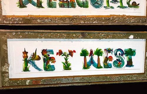 Handmade Key West Lobster Trap Frame