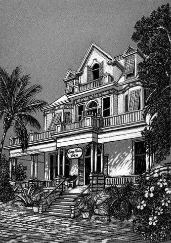 SV1 - Curry Mansion Pen and Ink