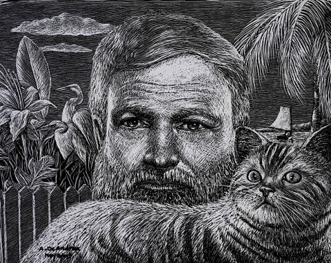 Hemingway with Cat