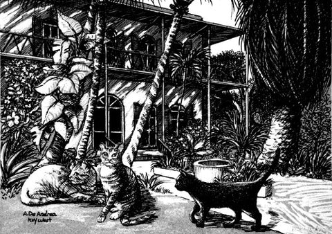 Hemingway House Pen and Ink