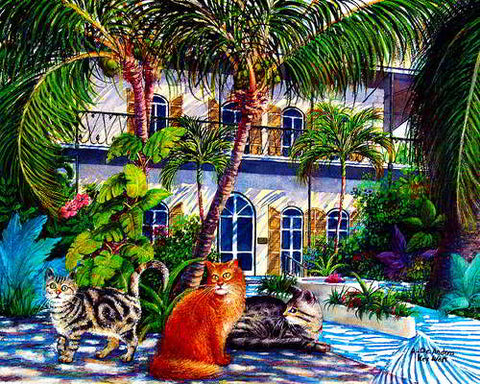 Hemingway House with Cats