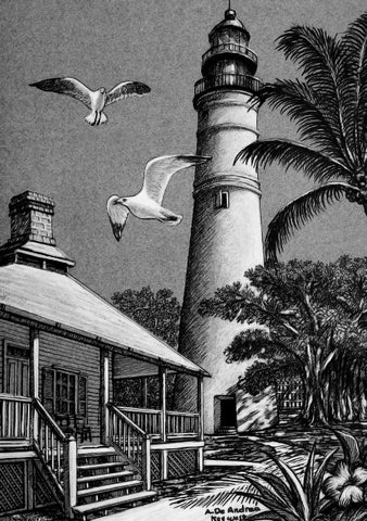 SV3 - Lighthouse Pen and Ink