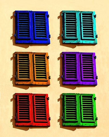 Six Colored Shutters