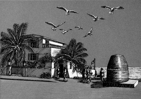 Southernmost Point Pen and Ink