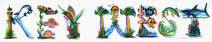 Tropical Name Letters